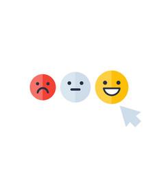 client satisfaction happy customer vector image