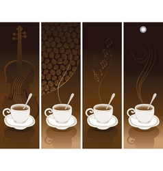 coffee violin vector image