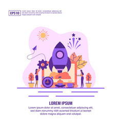 concept startup modern conceptual for banner vector image
