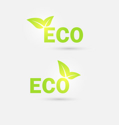 Ecology icon vector