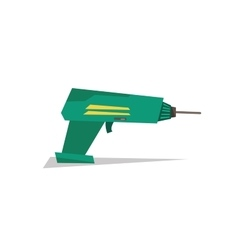 Electric hand drill vector image