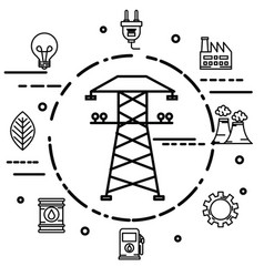 energy resources design vector image