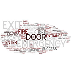 Exit word cloud concept vector
