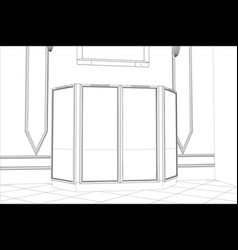 Facade kitchen sketch interior vector