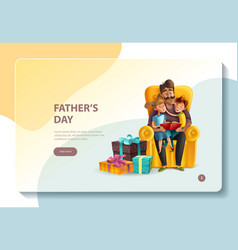 fathers day concept banner vector image