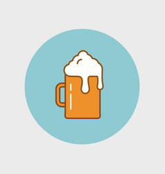 flat beer icon vector image