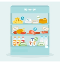 Food In Fridge Collection vector image