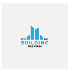 Four apartment building or modern real estate vector