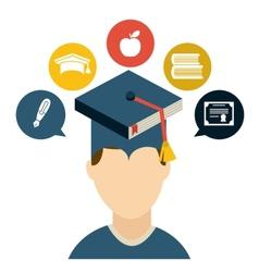 Graduate design vector