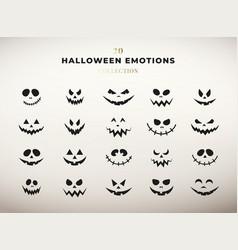 halloween emotions collection set of pumpkin vector image
