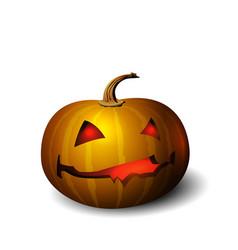 Halloween pumpkin face character isolated vector