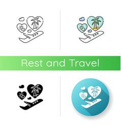 honeymoon icon vector image