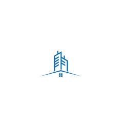 house modern building cityscape logo vector image