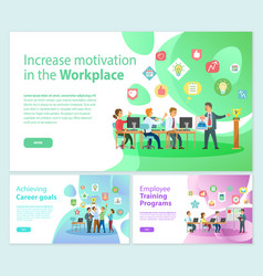 increase motivation on workplace business banners vector image