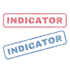 Indicator textile stamps vector