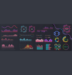 infographic dashboard template vector image