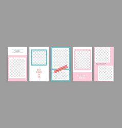 inspired instagram - stories template vector image