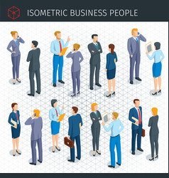Isometric business people vector