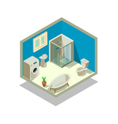 Lavatory concept banner isometric style vector