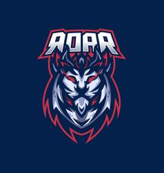 Lion esport gaming mascot logo template vector