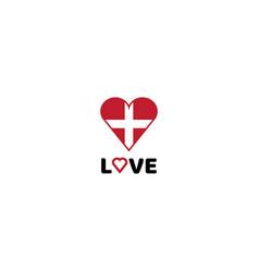 love logo with health icon design vector image
