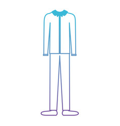 male clothes with long sleeve shirt and pant and vector image