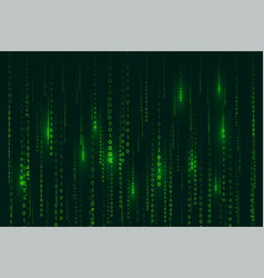 Matrix style binary code digital background with vector