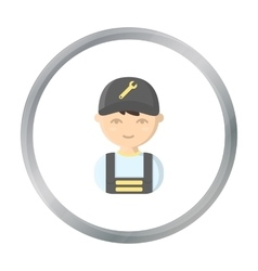 Mechanic cartoon icon for web and vector