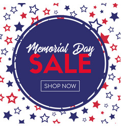 memorial day sale banner template vector image