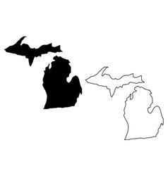 Michigan map vector