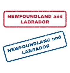 Newfoundland and Labrador Rubber Stamps vector