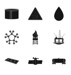 Oil rig pump and other equipment for oil recovery vector