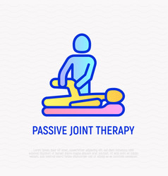 Passive joint therapy thin line icon vector