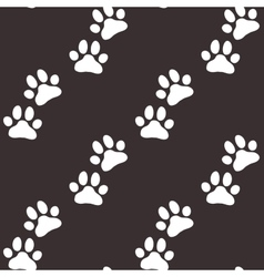 Paw zoo pattern brown for zoo design vector