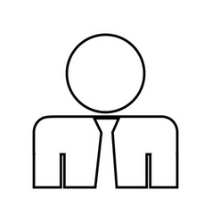 pictogram businessman icon vector image
