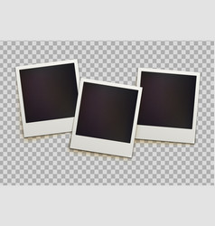 Retro instant photo frames vector