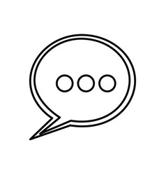 Round chat bubble icon vector