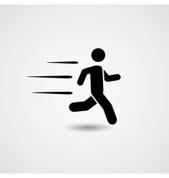 Running icon vector image