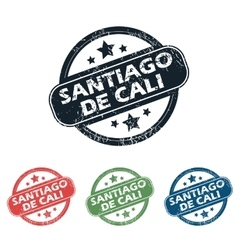 Santiago De Cali stamp set vector