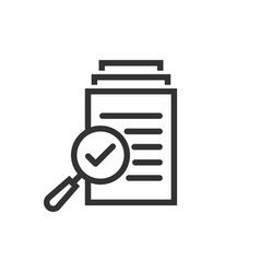 Scrutiny document plan icon in flat style review vector