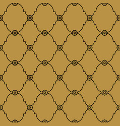 Seamless black and gold background pattern vector
