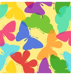seamless bright background butterflies vector image