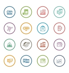 Set of Business and Marketing Flat icons vector image vector image