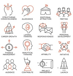 Set of icons related to business management - 29 vector image
