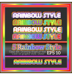Set Of Original Rainbow Graphic Styles for Design vector image