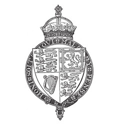 Shield of queen victoria is a coat of arms vector