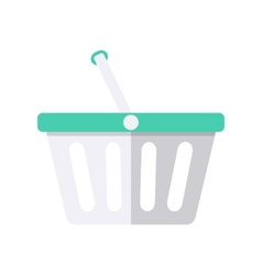 Shopping plastic cart vector image
