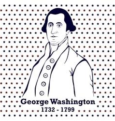 Silhouette George Washington vector image