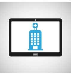 Technology device health hospital building vector