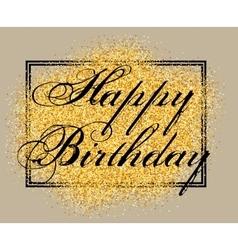 Template for greeting card happy birthday vector